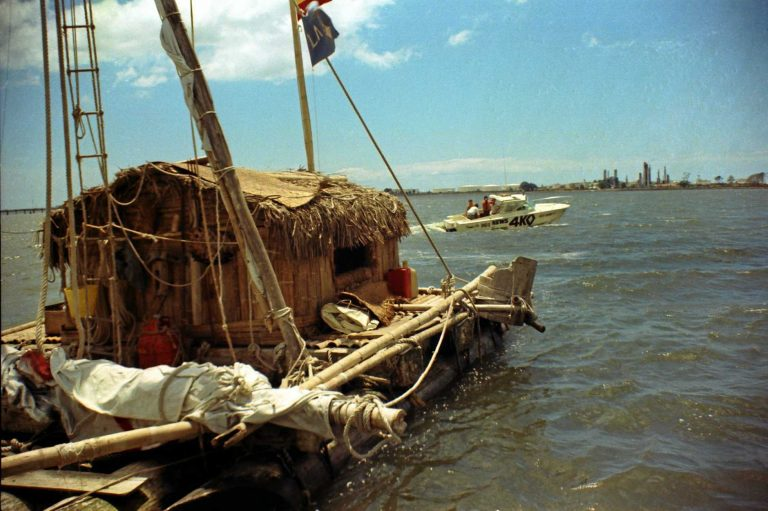 The raft that drifted from Ecuador to Mooloolaba
