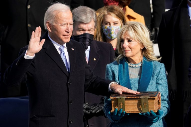 'Uncivil war must end': Biden sworn in as president