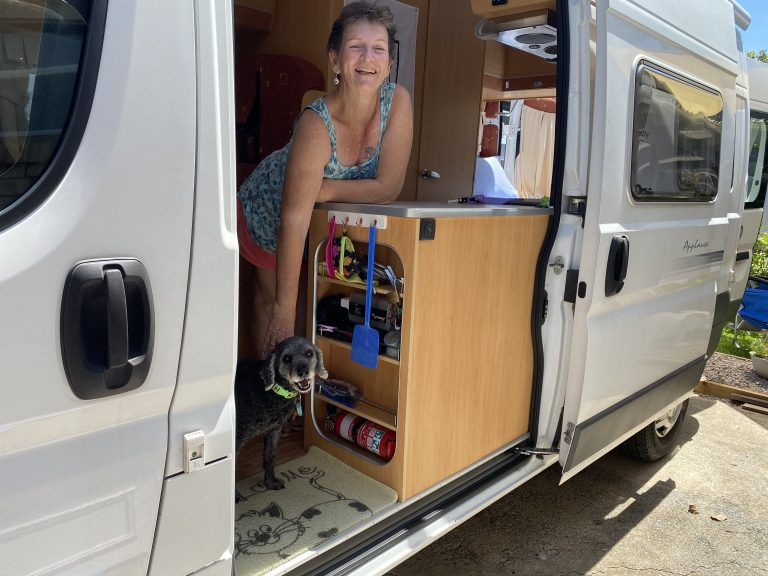 The open road beckons and adventure-loving Sally's on a roll