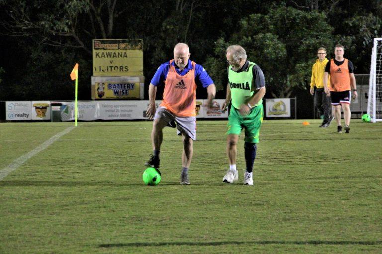 See the video: walking football craze kicks on