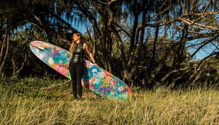 Water colours: inspirational longboarder immerses herself in art of surfing