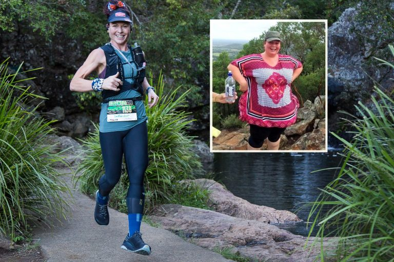 From 140kg to 100km: Coast mum's record-breaking feat